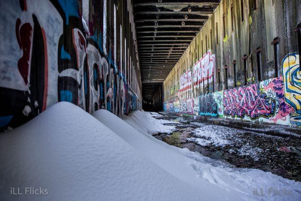 Snow drifts and graffiti-14